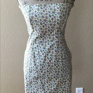 Betsey Johnson strapless dress with back bustle